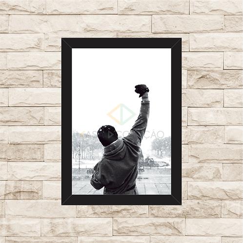 1618 - Quadro com moldura Rocky Balboa