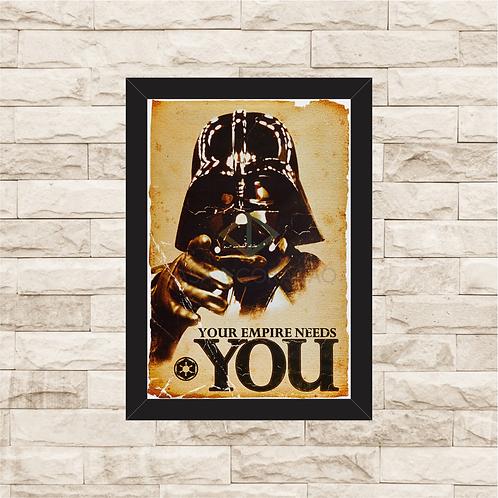 1015 - Quadro com moldura Star Wars - Darth Vader