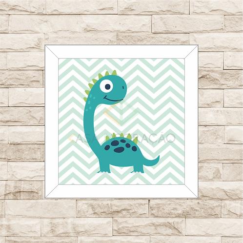 4139 - Quadro com moldura Dinossauro