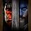 Thumbnail: 1650 - Quadro com moldura Warcraft - O Primeiro Encontro de Dois Mundos