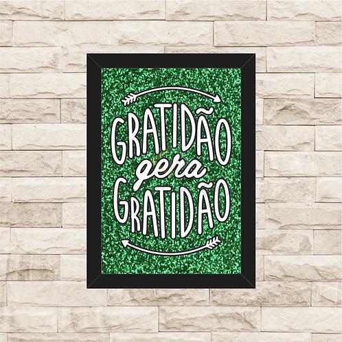 6393 - Quadro com Glitter - Gratidão gera Gratidão