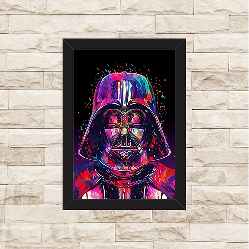1128 - Quadro com moldura Star Wars - Darth Vader