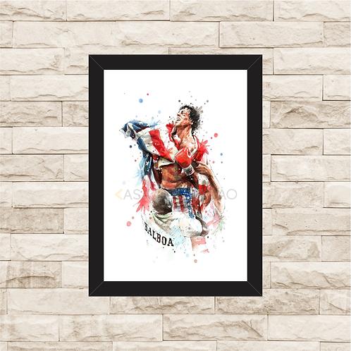 1072 - Quadro com moldura Rocky Balboa