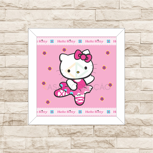 4078 - Quadro com moldura Hello Kitty