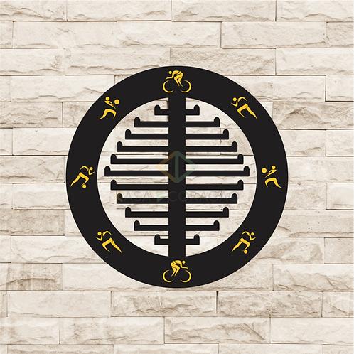 30039 - Placa Porta Medalhas Redonda
