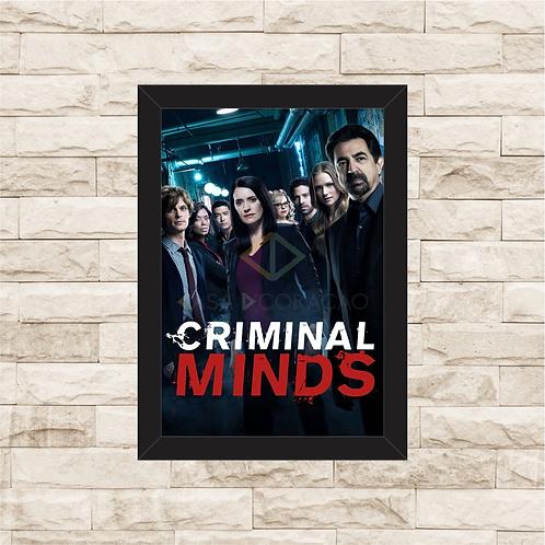 1328 - Quadro com moldura Criminal Minds