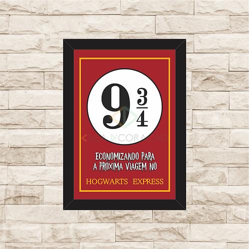 140 - Quadro para guardar dinheiro - Para a Próxima Viagem no Hogwarts Express