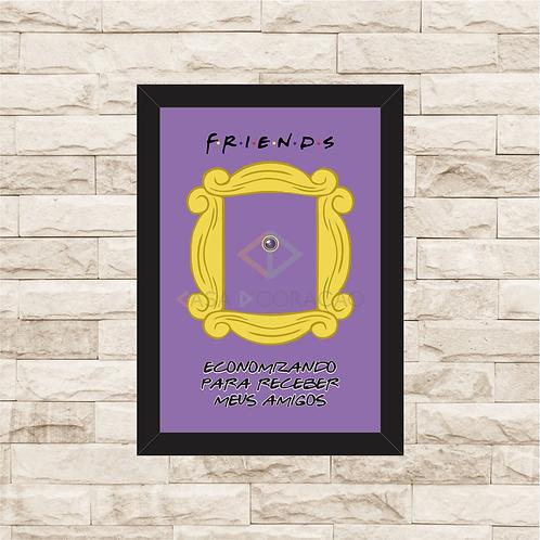 142 - Quadro para guardar dinheiro - Friends