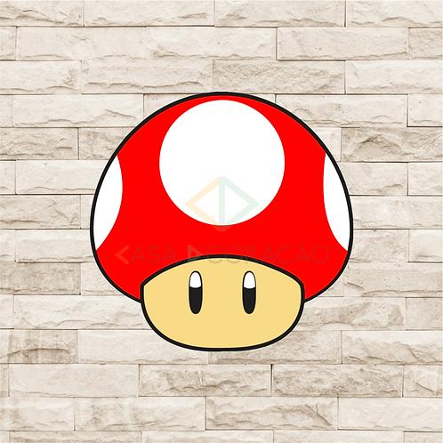 30028 - Placa Decorativa - Cogumelo Vermelho - Mario