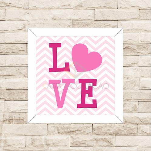 4027 - Quadro Decorativo LOVE - Rosa
