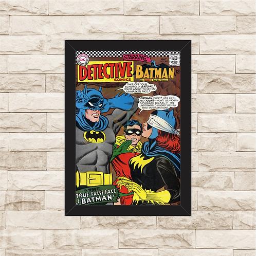 1135 - Quadro com moldura Batman e Robin