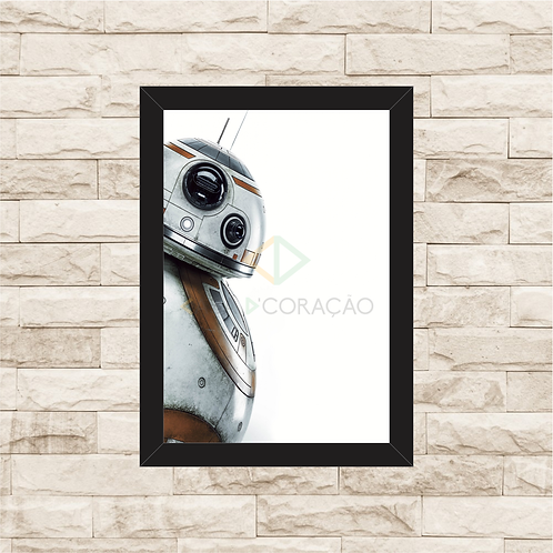 1056 - Quadro com moldura Star Wars - BB8