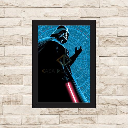 1262 - Quadro com moldura Star Wars - Darth Vader