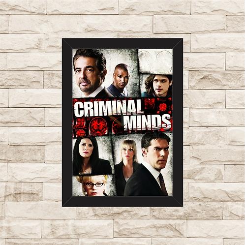 1329 - Quadro com moldura Criminal Minds