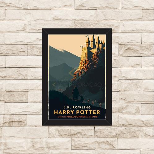 1221 - Quadro com moldura Harry Potter e a Pedra Filosofal