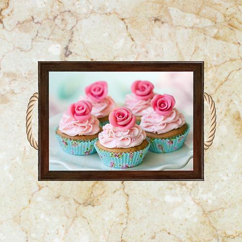 10035 - Bandeja Decorativa - Cupcakes