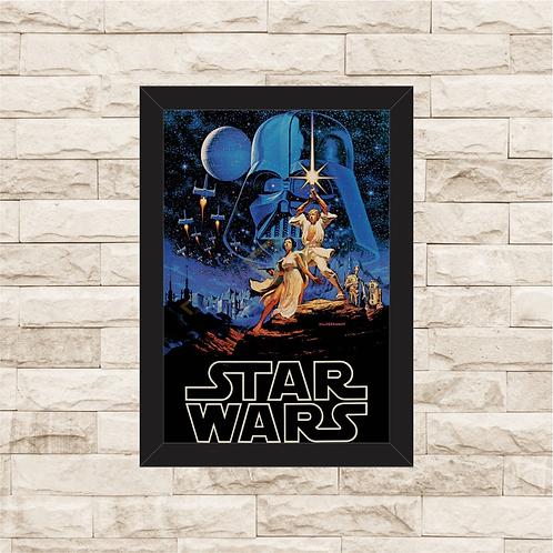 1076 - Quadro com moldura Star Wars