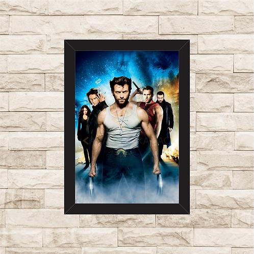 1385 - Quadro com moldura X-Men Origens Wolverine
