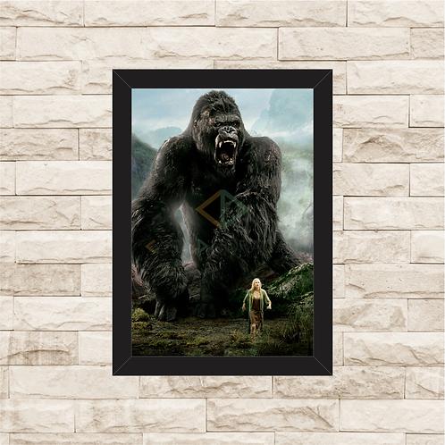 1567 - Quadro com moldura King Kong