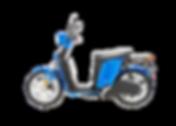 Askoll elektrinis motoroleris (scooter).