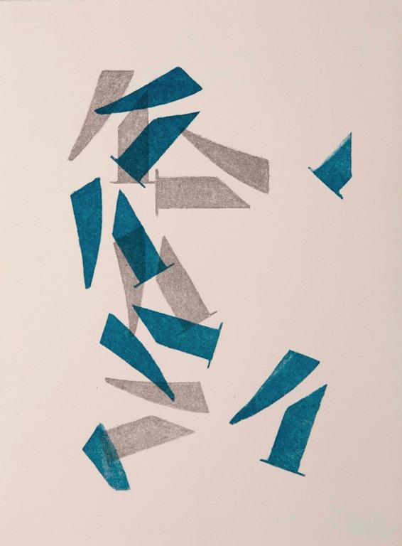 o. T., 2015, 1/4, 38x28cm, Lithografie auf Bütten (2 Steine)