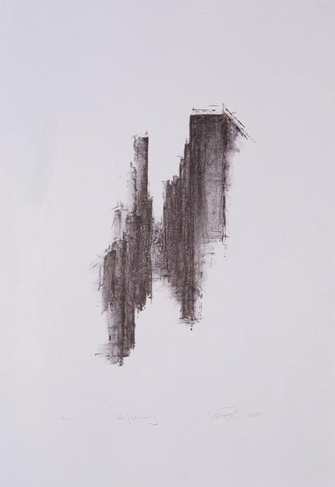 Auflehnung, 2018, 6/6, 41x28cm, Lithografie
