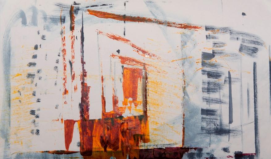 Türen offen halten, 2016, 39x66cm, Offsetfarbe auf Papier