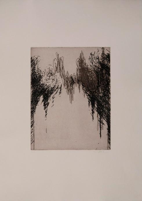 o. T., Auseinandersetzung zum Thema Verständigung, 2018, Unikat, 27x21cm, Ätzradierung auf Bütten (2 Platten)