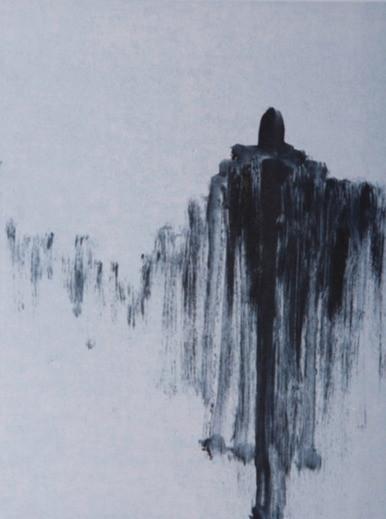 o. T., Auseinandersetzung zum Thema Erinnerung, 2017, Unikat, 40x30cm, Monotypie (2 Platten)