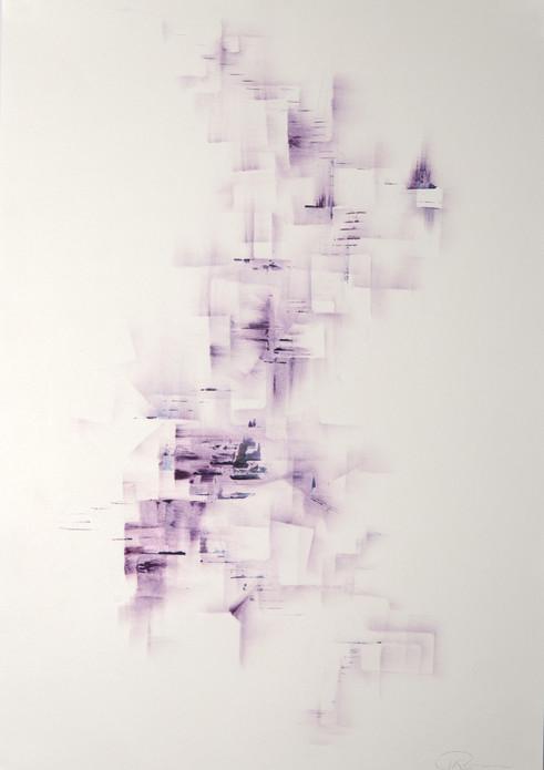 treppe-durch-leben, 2019, 42x30cm, Ölpastellkreide auf naturweisem Papier