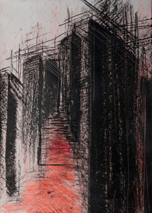 Heimat, 2018, 42x30cm, Pastellkreide / Papier