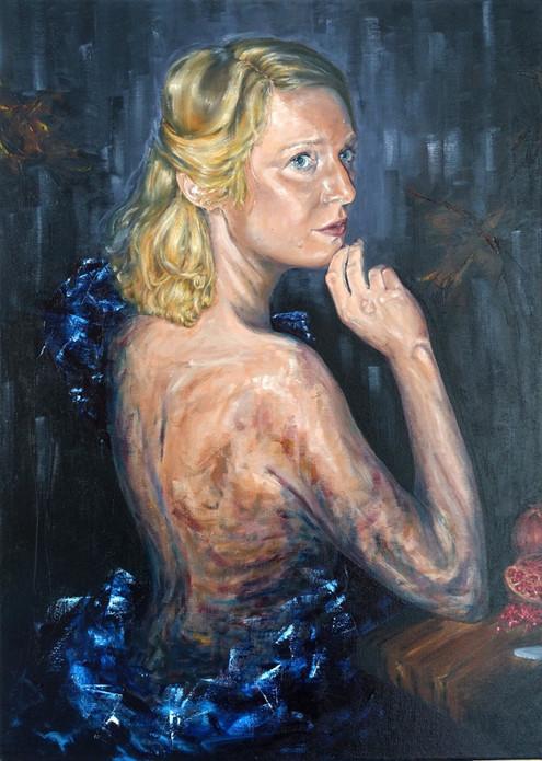 Magda, 2021, 70x50cm, Öl auf Leinwand
