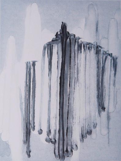 o. T., 2017, Unikat, 40x30cm, Auseinandersetzung zum Thema Erinnerung, Monotypie