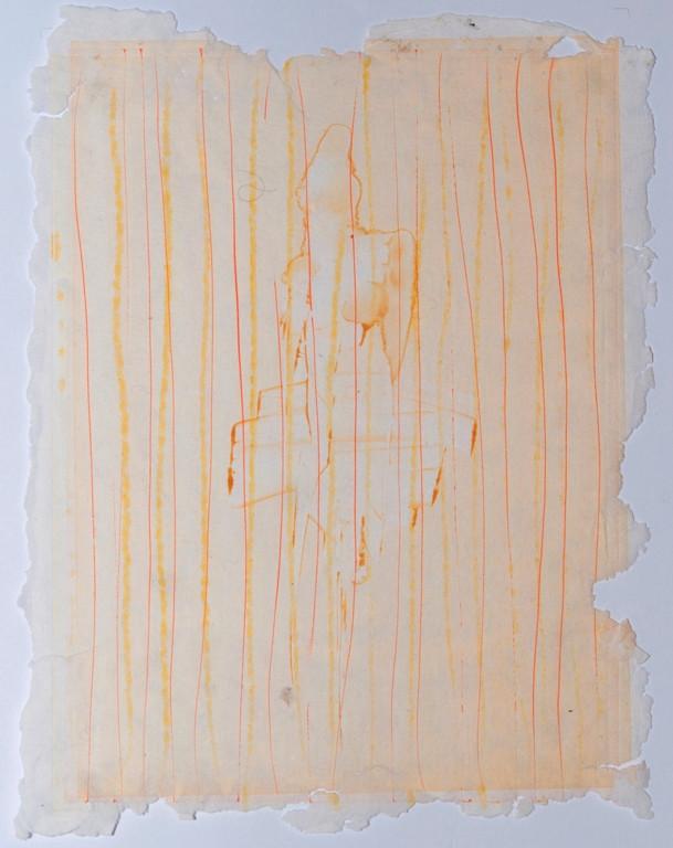 o. T., Auseinandersetzung zum Thema Erinnerung, 2017, 30x23cm, Monotypie auf handgeschöpftem Papier (2 Platten)