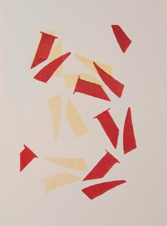 o. T., 2015, 1/2, 38x28cm, Lithografie auf Bütten (2 Steine)