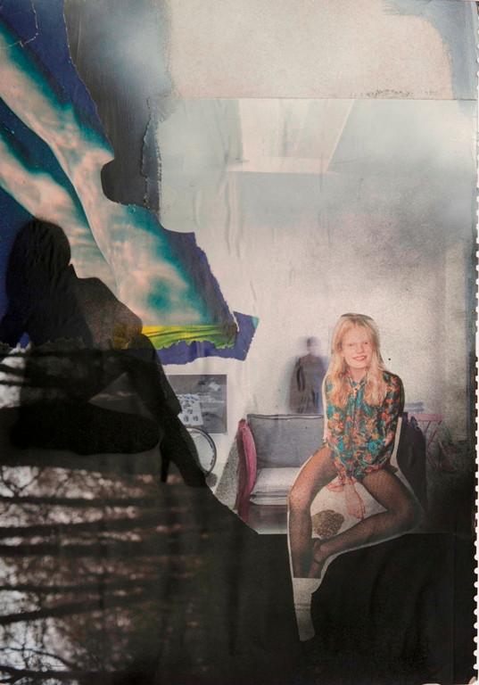 Kein Geheimnis, 2018, 46x32cm, Collage