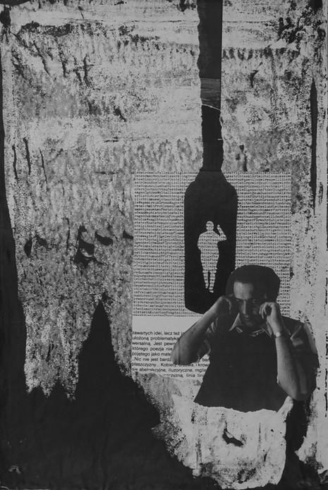 Lasst mich endlich in Ruhe!, Fellini 8 ½, 2017, 62x42cm, Collage