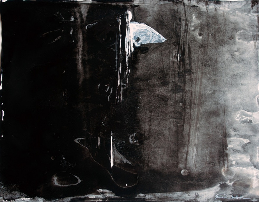 Engel, 2021, 29,8x37,4cm, Tusche