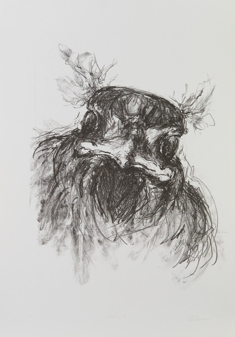 Fridolin II, 2020, 1/4, 39x29cm (Stein), Lithografie