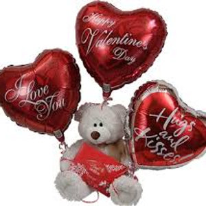 Teddy bear/ Balloon Bouquet w/chocolates