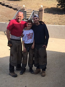 Steve Wiberg with his sons