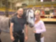 Steve Wiberg with Sylvia Zerbini at Ringling Bros Circus