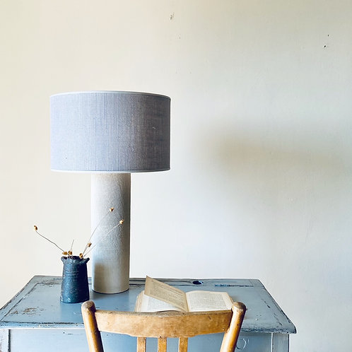 Lamp Raw 13 with light grey linnen shape!