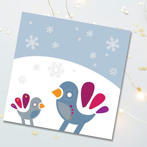 Christmas Winter Snow Birds 6-pack
