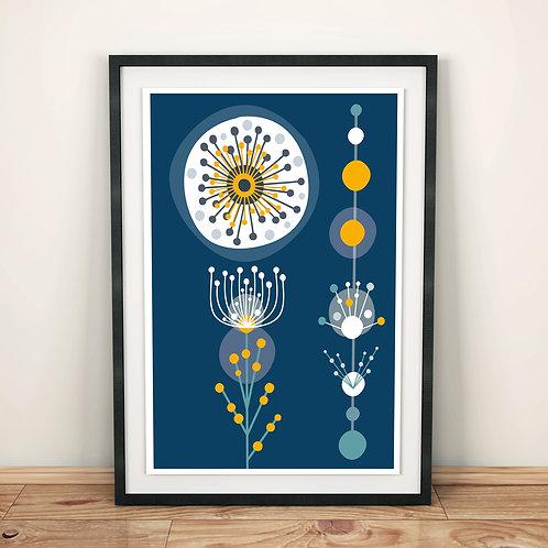 Print - Wattle Golden Mimosa giclee print - A5, A4 or A3