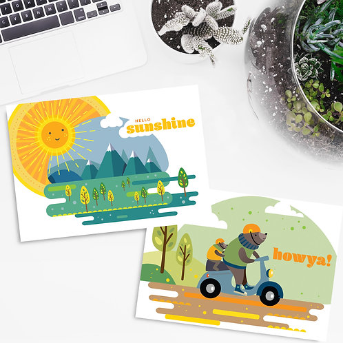 Positive Postcards A6 - packs of 5 or 10 - let's share happiness!
