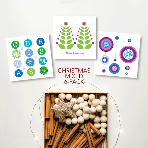 Christmas Cards mixed 6-pack