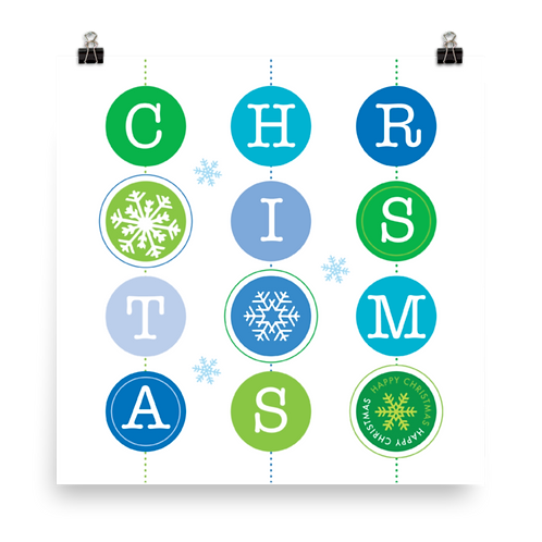 Christmas Baubles Green & Blue 6-pack