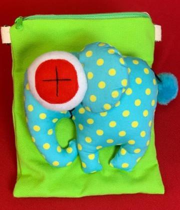 Crossbody Bag - Blue Elephant