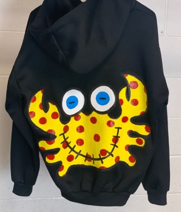 Custom Hoodie Yellow- Back